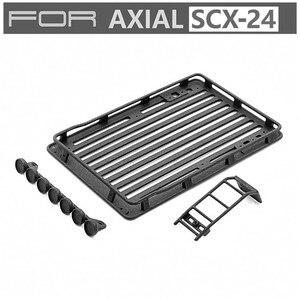 Dla Axial SCX-24 1/24 RC samochodowy bagażnik dachowy bagażnik reflektory drabina modyfikacja trwała część