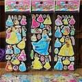 3шт./лот мультфильм ТВ Снежная принцесса пышные наклейки 3D DIY вознаграждение детские игрушки подарок на день рождения милые пышные детские и...