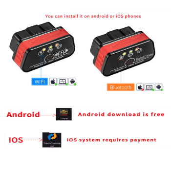 цена на Car Diagnostic Scanner Tool Mini OBDII Diagnostics Auto Obd2 Connector Scanner For Auto Code Reader    For IOS For Android Phone