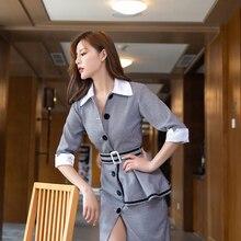 Dress Turn-down Midi Collar