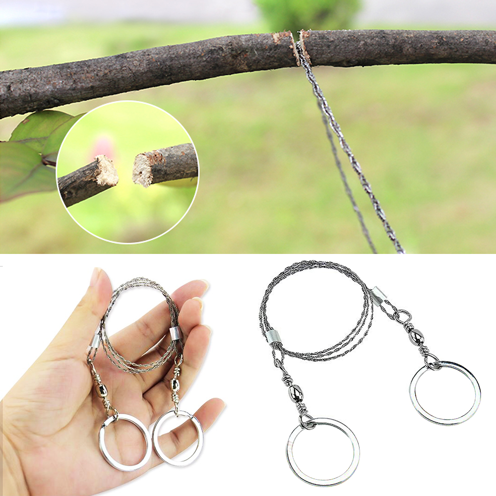 Multifunctional Portable Life Chain Saw Blade Stainless Steel Wire Saw Cutter Outdoor Survival Emergency Wire Saw 3