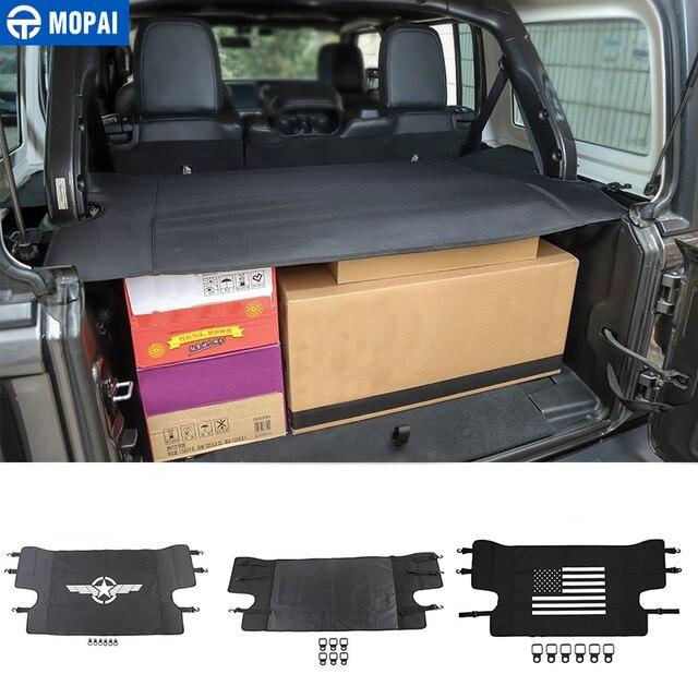 MOPAI Stivaggio Riordino per Jeep Wrangler JL 2018 + Auto Portapacchi Tronco Copertura Della Tenda per Jeep Wrangler 2019 Auto accessori