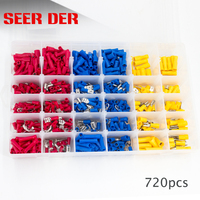 480/720Pcs Insulated Electrical Automotive Wire Connector Assorted Cable Crimp Terminals Kit Spade Ring Fork Bullet|Terminals|Home Improvement -