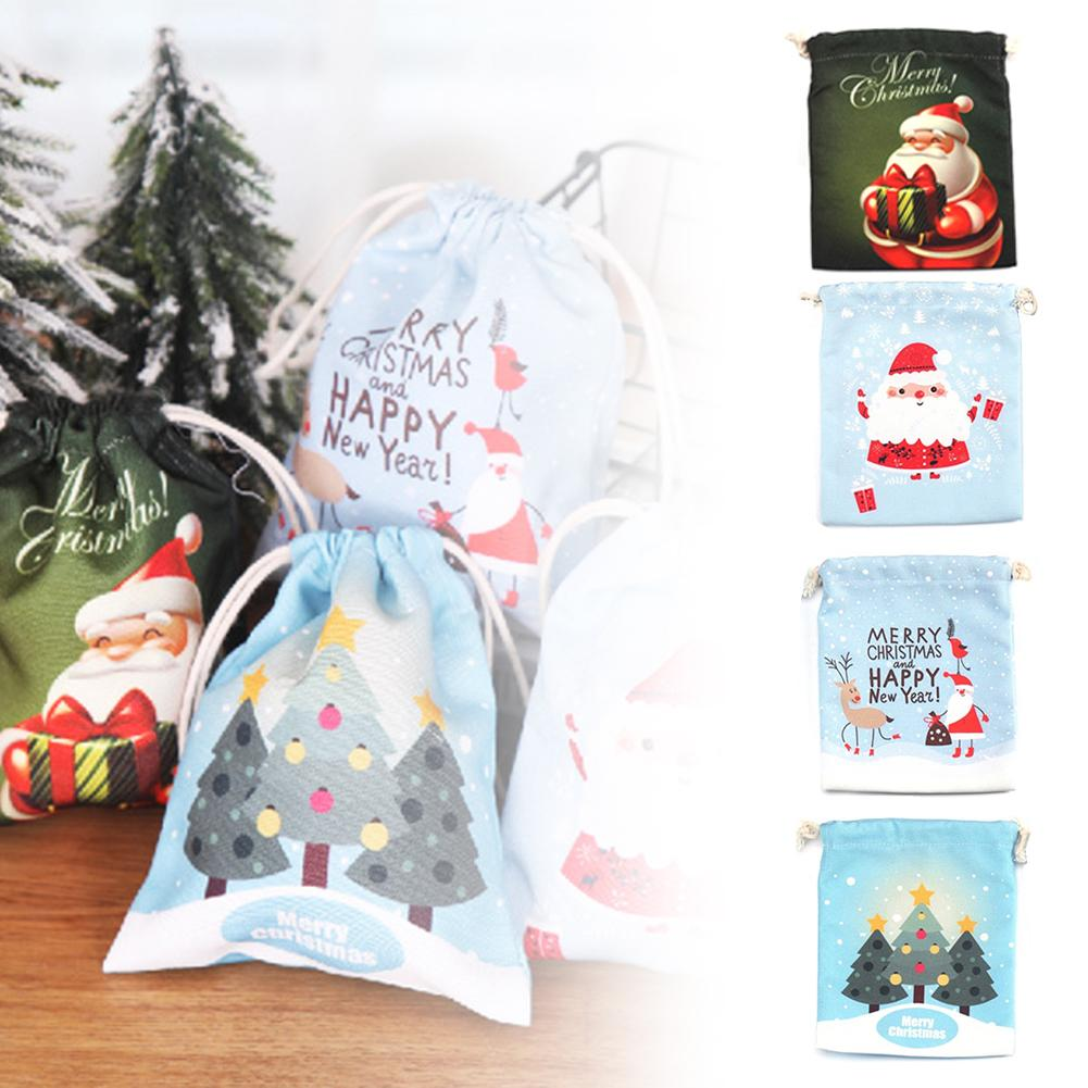 Christmas Candy Bags Canvas Gift Bags Children's Best Gift For New Year Christmas Party Decoration