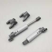 2 peças 61927 atuador linear técnico com extremidades gris azulado oscuro compatível com 61904 bloques de ladrillo técnica moc ev3