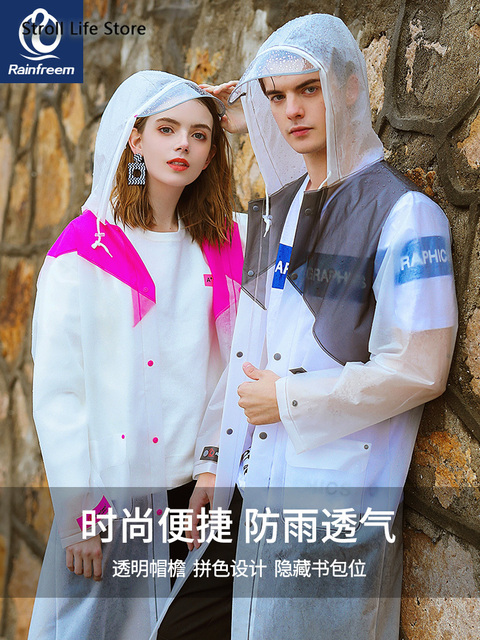Long Rain Coat Women Men Transparent Rain Poncho Hiking Clear Raincoat Plastic Suit Waterproof Coat Gabardina Mujer Gift Ideas