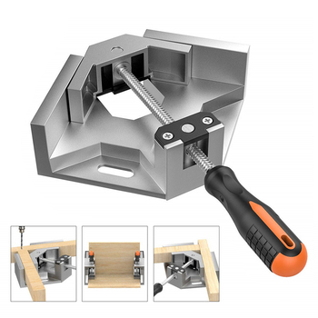 90 Degree Adjustable Carpenter Clip Angle Clamp Woodworking Frame Tools Right Aluminum Alloy Single Handle Tool