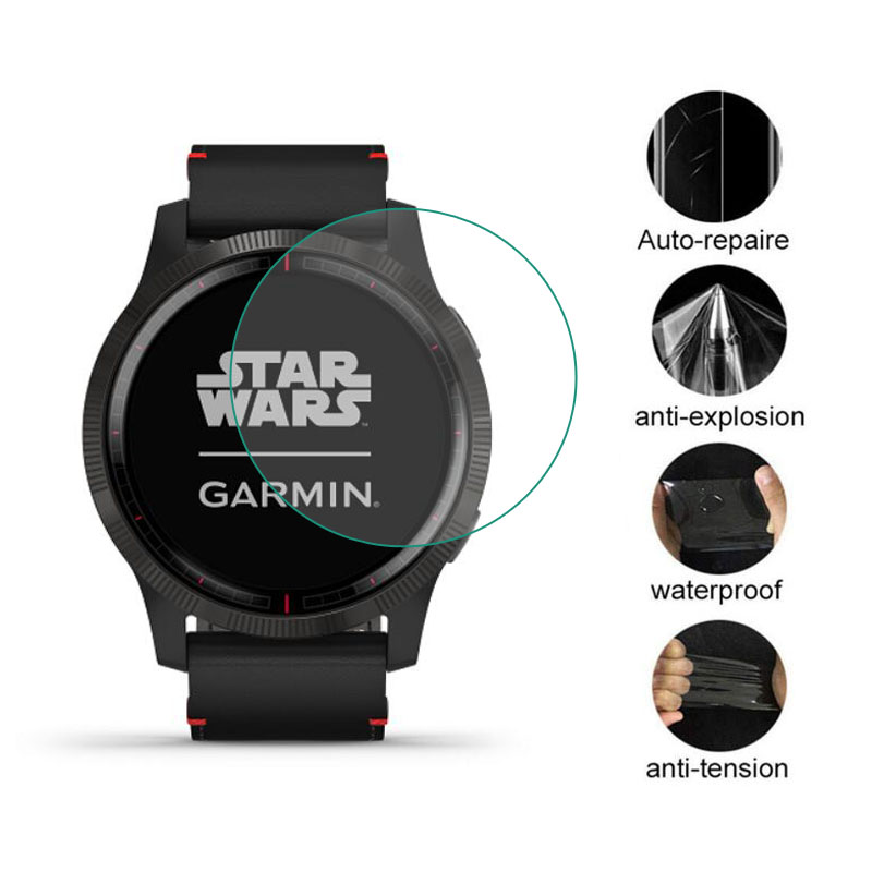 Soft Clear Protective Film Guard For Garmin Legacy Saga Series Rey 40MM And Darth Vader 45mm Smart Watch Screen Protector Cover