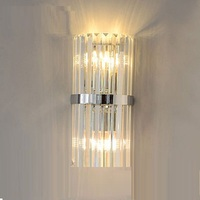 LukLoy Nordic Light Crystal Wall Sconce LED Crystal Wall Lamp Modern Lights For Living Room European Light Fixtures Aisle Stair