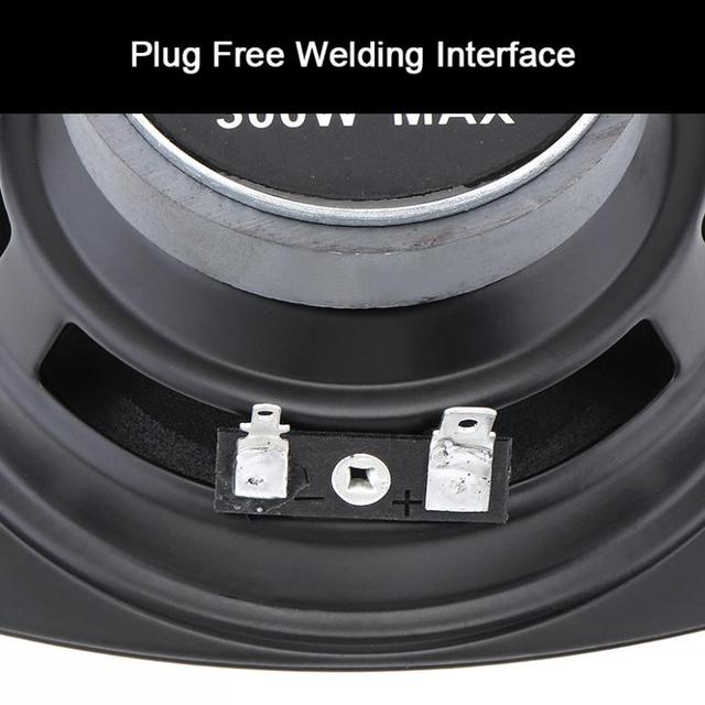 1 Piece 12V  4 Inch 300W Car Coaxial Speaker Vehicle Door Auto Audio Music Stereo Full Range Frequency Hifi Speakers