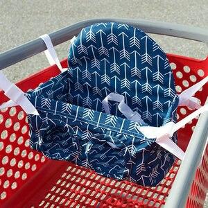 Image 1 - Детская корзина для покупок, гамак, портативная тележка с нажимом, сиденье для супермаркета, корзина для покупок, детское безопасное сиденье