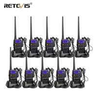 10 pièces chape RT5R talkie-walkie VHF UHF double bande jambon Amateur Radio VOX FM communication Radio bidirectionnelle pour Baofeng UV-5R UV5R