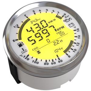 Image 3 - אוטומטי משולב מד שינוי 85mm GPS מד מהירות Tach דלק מד 8 16v וולט מד טמפ מים מטר 0 5Bar שמן לחץ