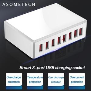 Image 3 - 40W 8Ports USB Charger Adapter HUB Charging Station Socket Phone Charger For iPhone 6 7 8 samsung xiaomi huawei US EU UK AU Plug