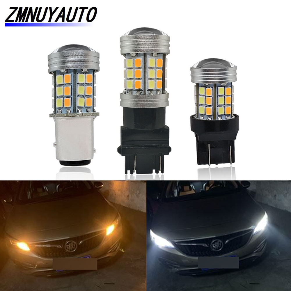 T20 60SMD 1210 7443 Dual-Color Switchback LED Bulb For Turn Signal//Brake//Tail PA