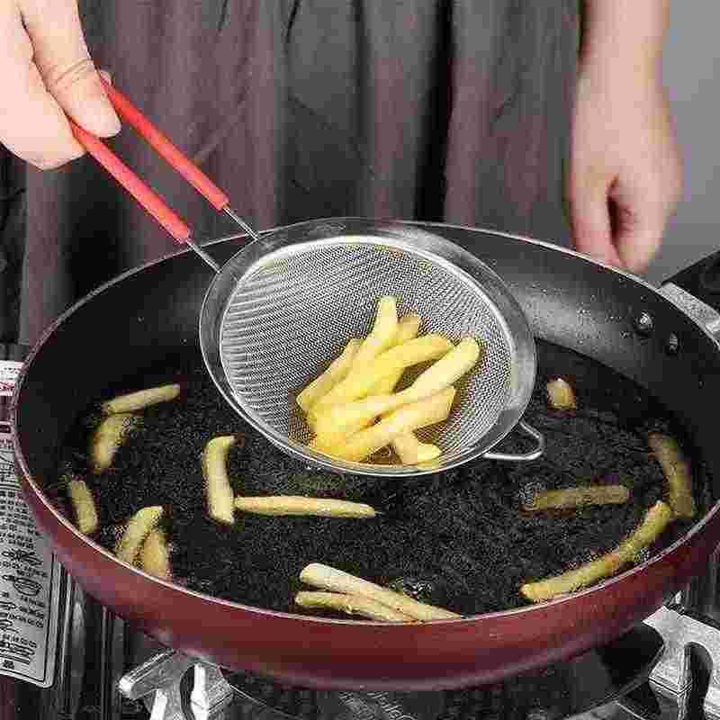 Stainless Steel Wire Mesh Halus Saringan Minyak Saringan Tepung Teh Dapur Saringan Ayak Kopi Alat Penyaringan Filter Makanan E2B9