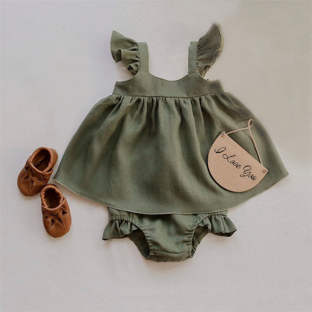 Baby Clothes Girl Dress For 0-24M Baby Spring & Summer Organic Cotton Clothes New Born Sleeveless Kids Girls Clothing