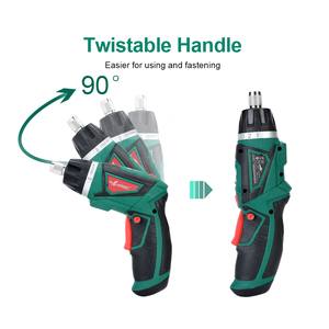 Image 2 - LANNERET 7.2V Li Ion Cordless Electric Screwdriver Household Rechargeable Twistable Handle