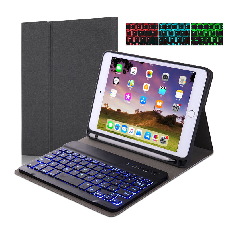 Backlit Bluetooth Keyboard Case For New iPad 2019 7th Generation Coque Leather Flip Stand Cover For iPad 10.2 2019 Case Tablet