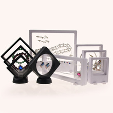 3D Floating Jewelry Display Frame Case Box Coin Display Stand Rack Holder Jewelry Packaging