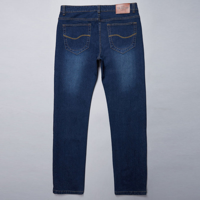 28-50 Big Size Man Pants High Stretch Straight baggy Trousers Fashion Casual Black Blue Denim Male Business Jeans Classic 65