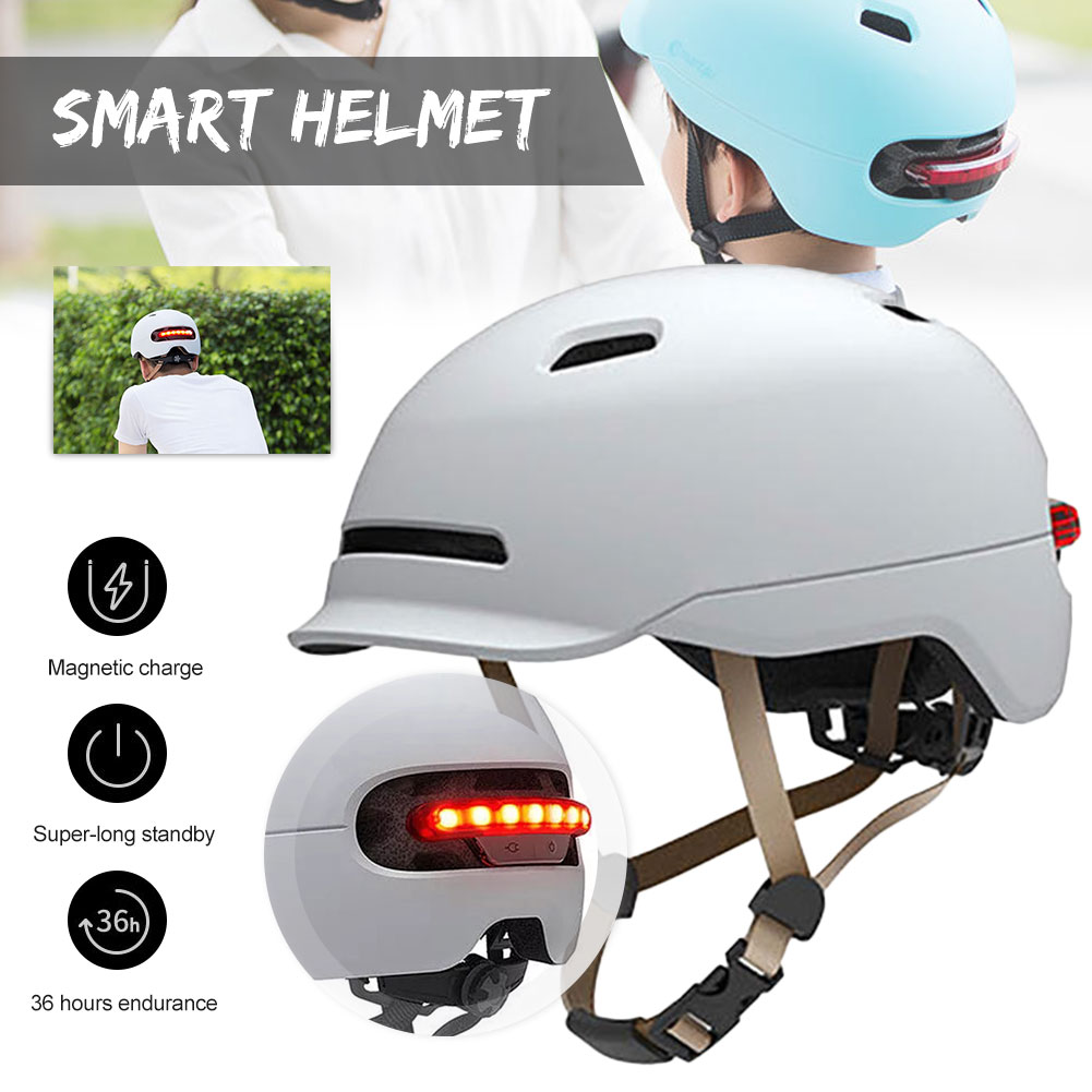 Smart Helmet Electric Scooter Bicycle Balance Helmet LED Automatic Warning Lighting Electrobike Helmet Motorcycle Accessories