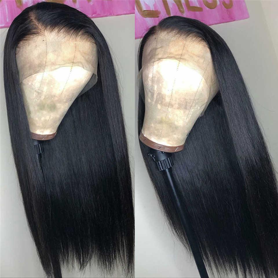 13x6 парик с невидимыми HD прозрачными кружевами 150% плотность предварительно сорванные человеческие волосы парики бразильские волосы remy