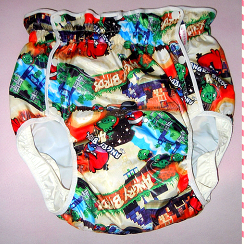 Free Shipping  FUUBUU2215-Bird-S  Adult Baby Diaper  Baby Plastic Pants For Babies Adult Baby Romper  Adult Diaper Abdl