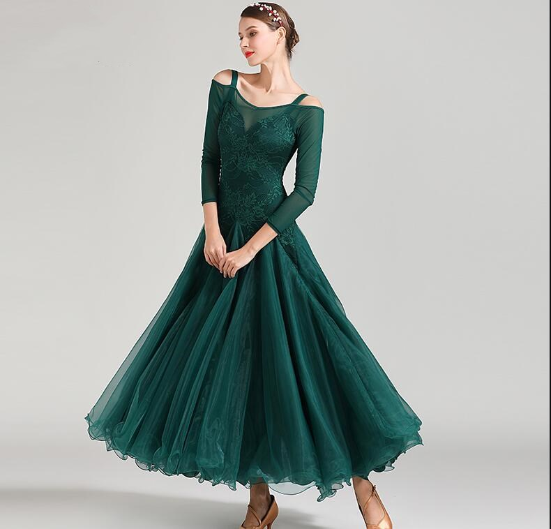 New Ballroom Dance Competition Dress Dance Ballroom Waltz Dresses Standard Dance Dress Women Ballroom Dress 1875