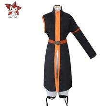 Высокое качество, костюм феи из аниме «Хвост Феи», костюм Натсу драгнееля, мужской костюм для косплея, Туника + брюки + пояс