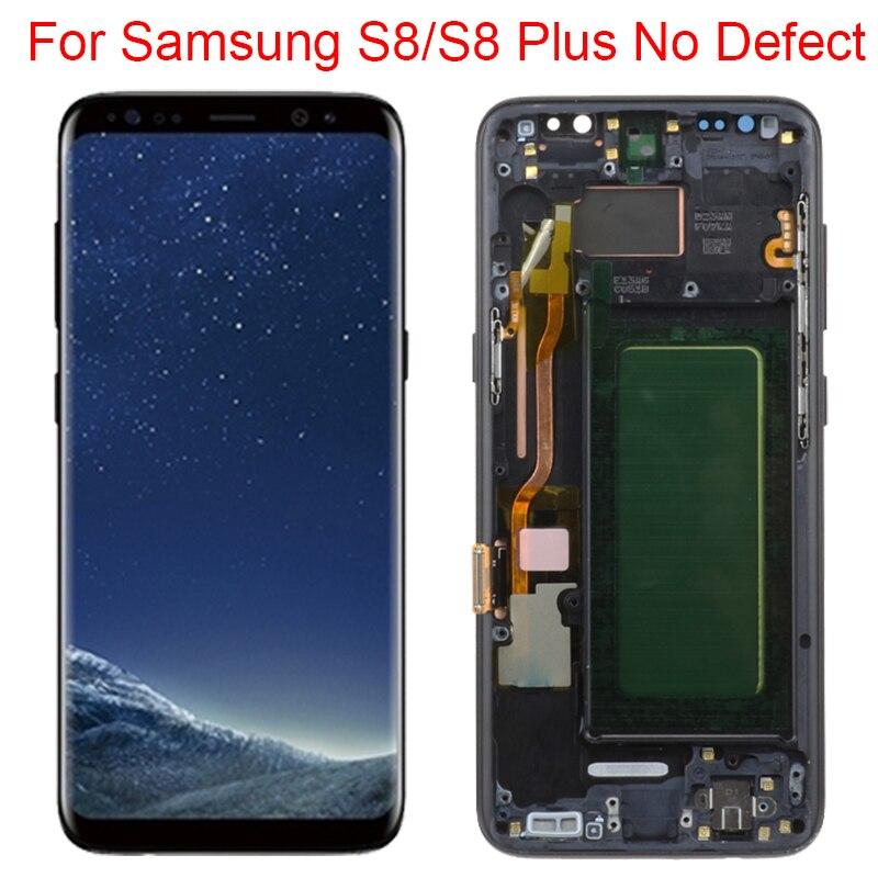Oryginalny S8 Plus LCD do Samsung Galaxy S8 wyświetlacz z ramką S8 G950FD S8 Plus G955F ekran LCD Panel dotykowy montaż nowy