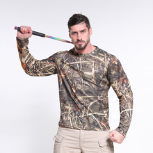 T-Shirt Hunting Camouflage Men Performance Long-Sleeve Lightweight Usa-Size Quick-Dry