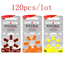 120Pcs/Lot RAYOVAC EXTRA Hearing Aid Batteries A13 13a PR48 ZA13 a312 312a PR41 ZA312 a10 10a PR70 ZA10 Zinc Air Battery