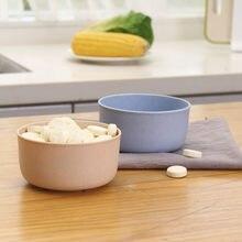 Palha tigela de trigo plástico casa macarrão sopa de arroz tigela vinagre sólido tempero placa molho de sal prato de cozinha # t1p