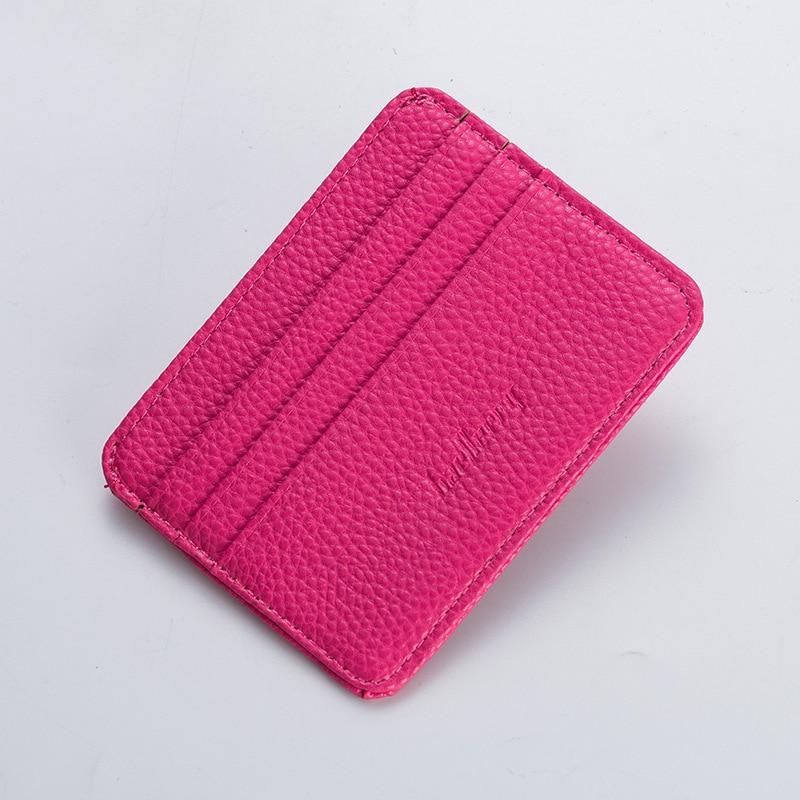 Men Women Slim Lichee Leather Card Holder Multi Slot Business Card Id Holder Brand Bank Credit Card Case Wallet For Cardholder