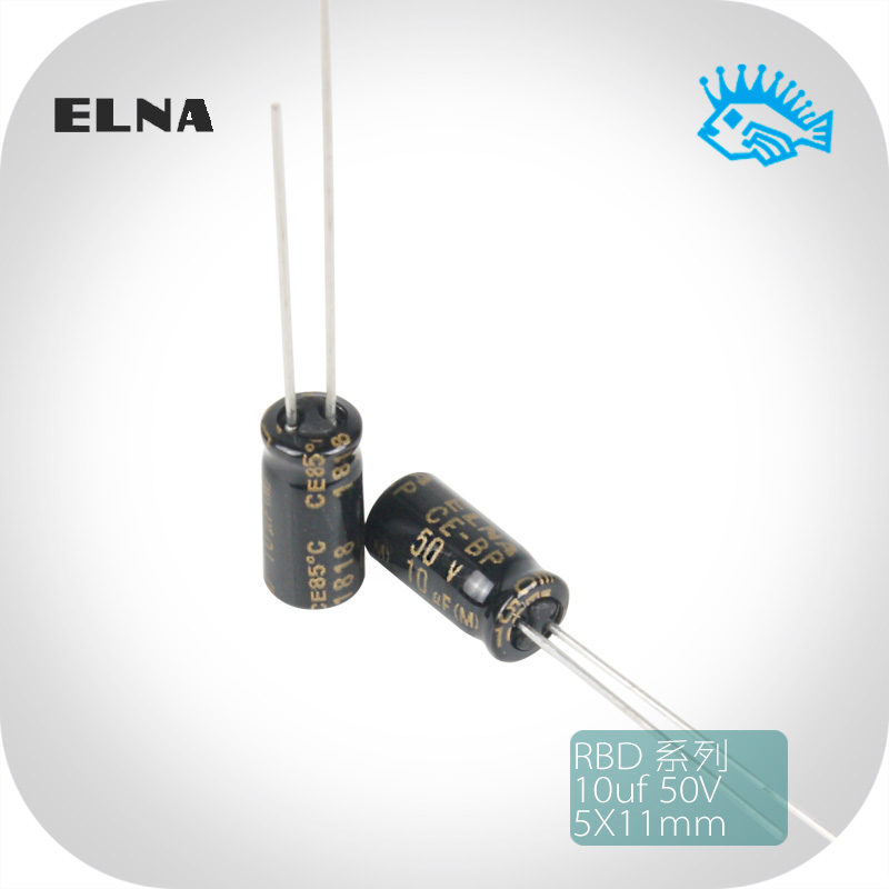 500Pcs 50v 0.1uf Electrolytic Capacitor Diameter 5mm height 11mm