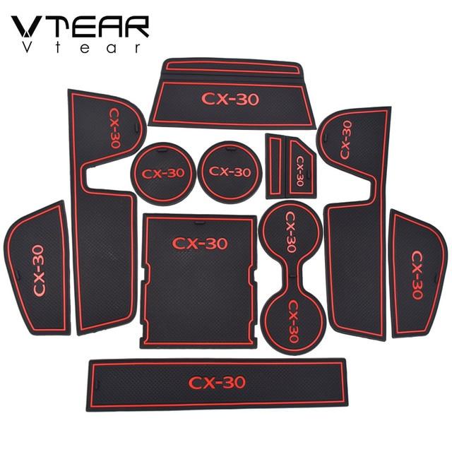 ل مازدا CX 30 CX30 اكسسوارات دواسة مطاطية دواسة باب المضادة للانزلاق مسند للكوب بوابة فتحة وسادة تعديل الديكور الداخلي 2020 2021