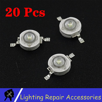 20pcs/lot 3W / 1W White / Warm White Red Green Blue LED Chip Lamp Beads 3W LED Lamps For Stage Light Led Par Light image