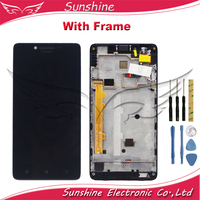100% Tested LCD For Lenovo A6000 LCD Display With Touch Screen Sensor Digitizer Complete Assembly|Mobile Phone LCD Screens| |  -