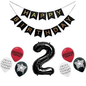 Image 3 - 12 stücke Fremden Dinge Luftballons Latex ballon Geburtstag Party Dekorationen Spielzeug Partei Liefert Globos