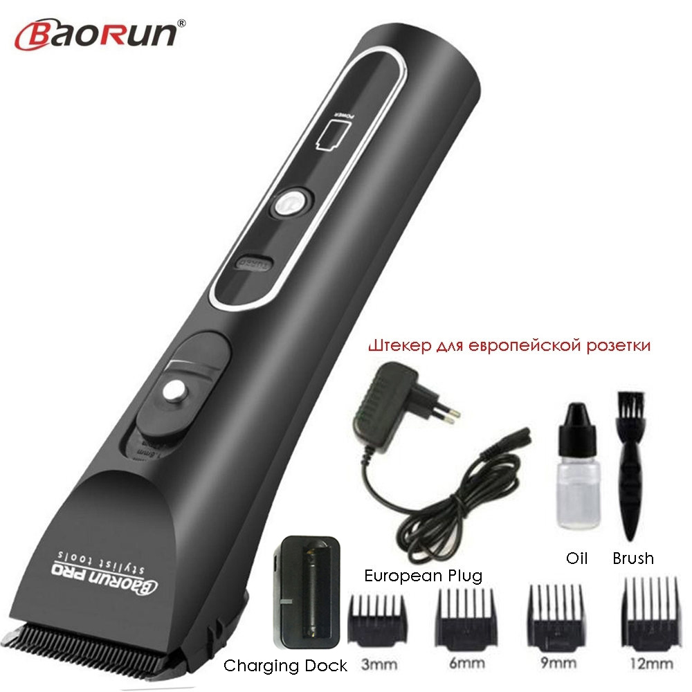 Professional Electric Hair Clipper Lithium A6 Rechargeable Hair Trimmer Titanium Ceramic Blade for Salon Hair Cutting Machine-in Hair Trimmers from Home Appliances    2