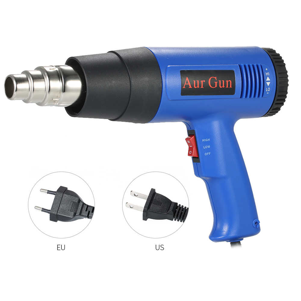 B 1800W Verstelbare Temperatuur Heteluchtpistool Snelle Verwarming Industriële föhn hot pistool solderen Warmte gun Blower 4 nozzles