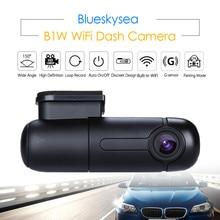 Blueskysea 자동차 와이파이 DVR B1W 미니 대시 카메라 회전 렌즈 NT GM8135S 높은 HD 1080P Dashcam 소니 IMX323 자동차 레코더