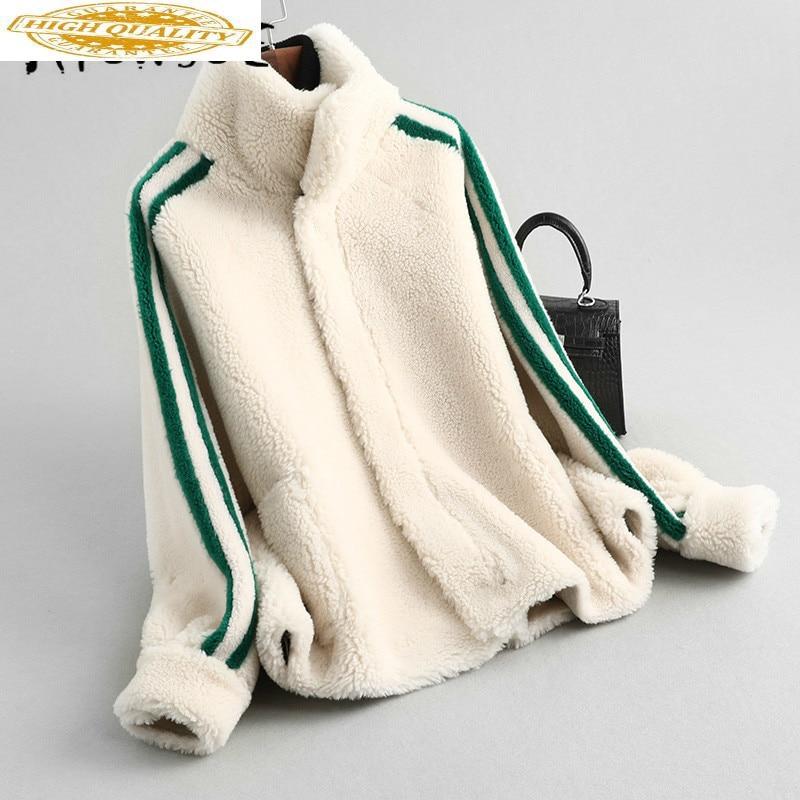Real Fur Coat Women Sheep Shearing Winter Coat Women Korean Wool Jacket Women Clothes 2020 Manteau Femme KQN59360 YY1586