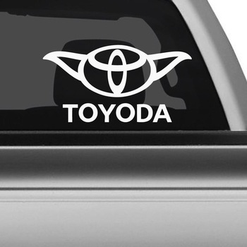 Toyoda Yoda Sticker Decal Notebook Car Laptop 8 Bargain Max Decals White