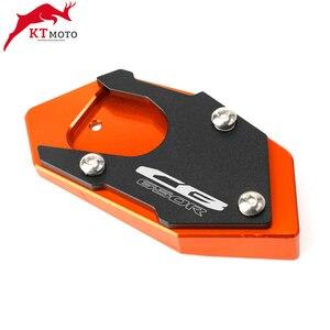 Image 4 - Placa de soporte de almohadilla de extensión de caballete CNC para motocicleta Honda CB 650R CBR 650R CB650R 2003 2012