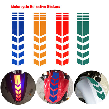 34x5cm Motorcycle Reflective Stickers Wheel Car Decal Fender Waterproof Safety Warning Arrow Tape Car Sticker Motor Accessories image