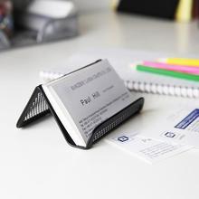 Одноцветная полая деловая визитная карточка держатель, полка дисплея прочные подставки подарок