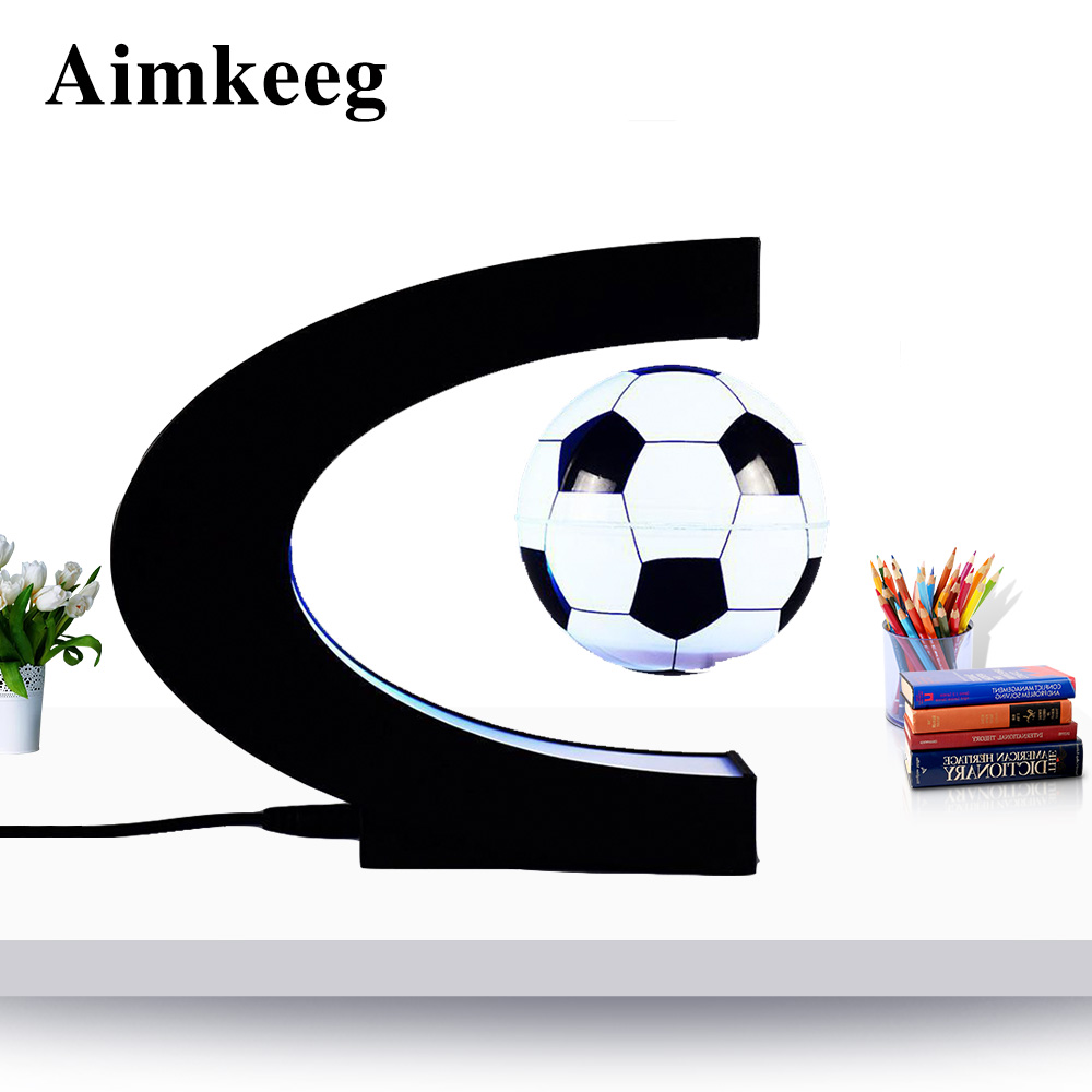 3 Inches Magnetic Levitation Floating Football With LED Lights Home Decoration 8.5CM Birthday Gift Decoration Home