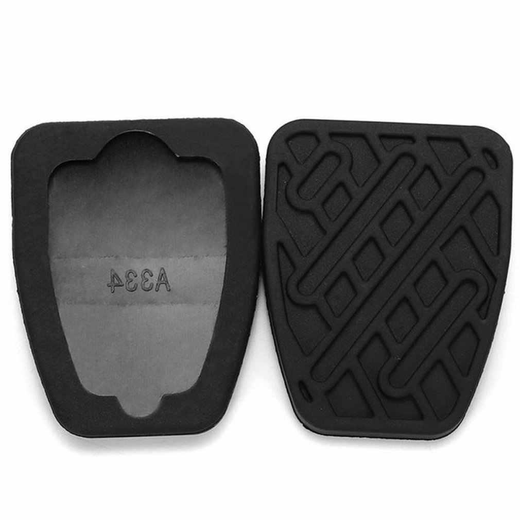 2 Pcs Mobil Aksesoris Satu Pasang Rem & Kopling Pedal Pad Karet Penutup untuk Nissan Qashqai (Manual) modifikasi Mobil Aksesoris